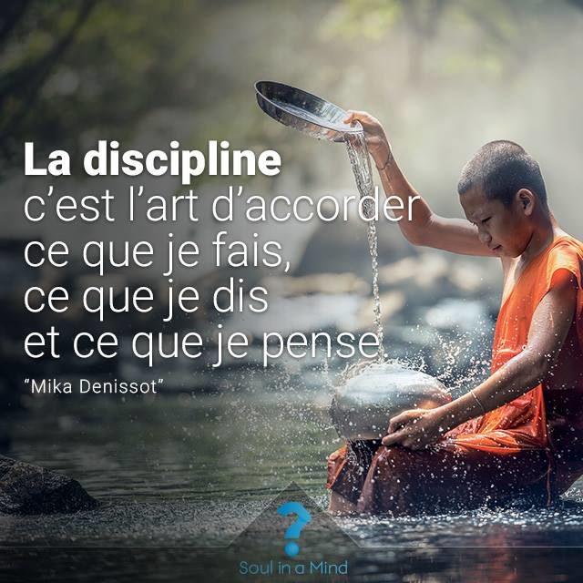 discipline je fais pense dis