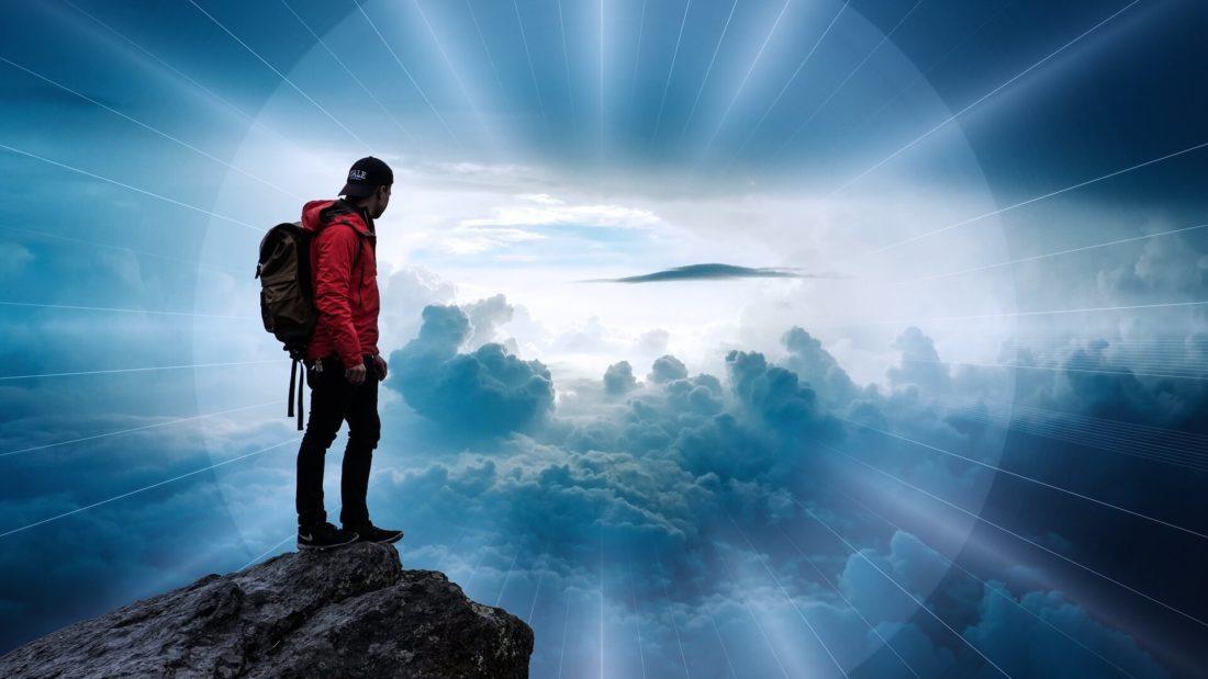Homme au sommet