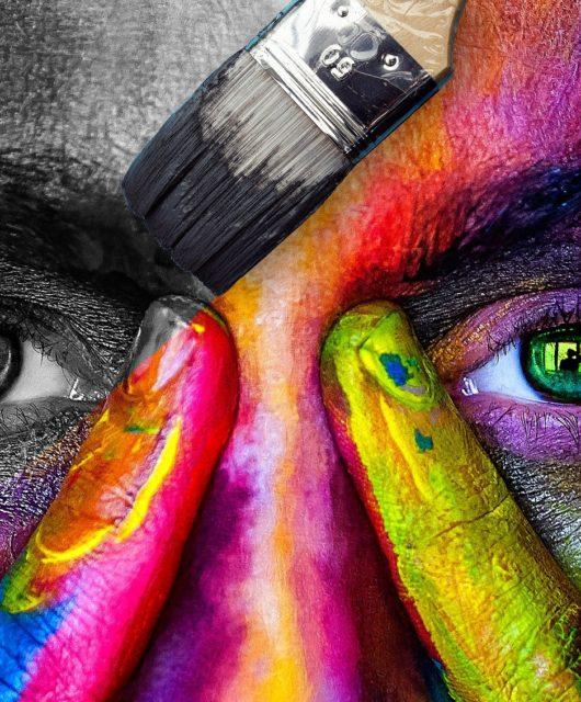 visage couleurs