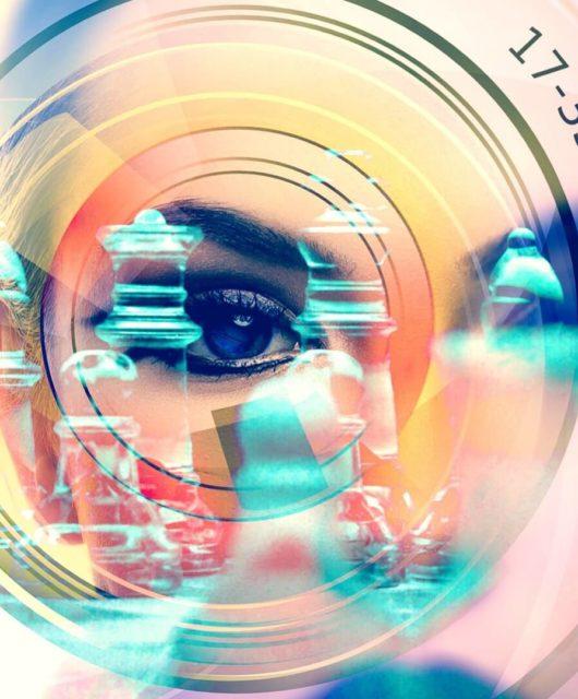 Technologie zoom oeil femme