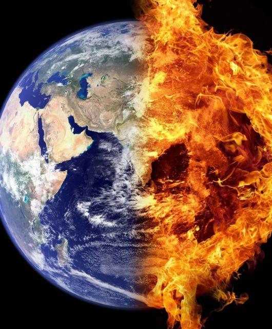 terre brûle feu