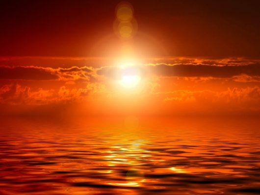 soleil ciel mer alignement