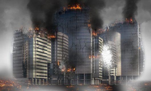 immeubles incendie destruction