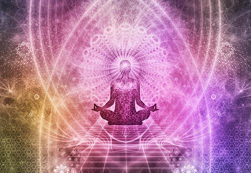 éveil spirituel énergie conscience méditer géométrie sacrée