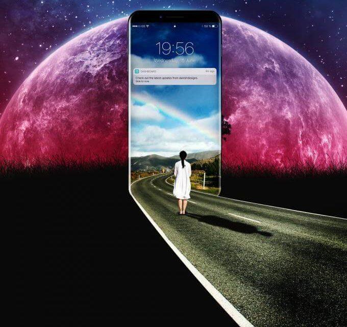 Iphone avec planête