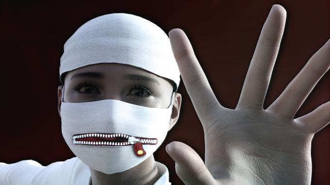 Masque dictature interdiction de pensé gouvernement covid homme